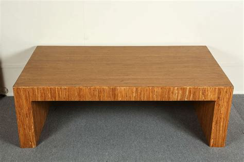 Simple Minimalist Coffee Table With Striated Wood Veneer Simple Wood Coffee Table