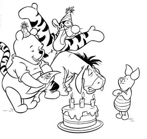 Winnie Pooh Eeyore Piglet And Tigger Celebrating Birthay Winnie The Pooh And Tigger Coloring Pages