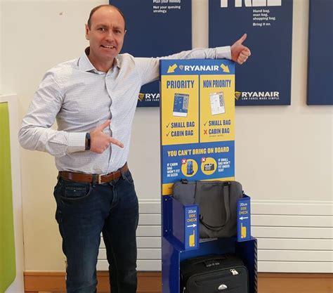 cabin baggage for ryanair ryanair non priority customers must put 2nd bigger bag