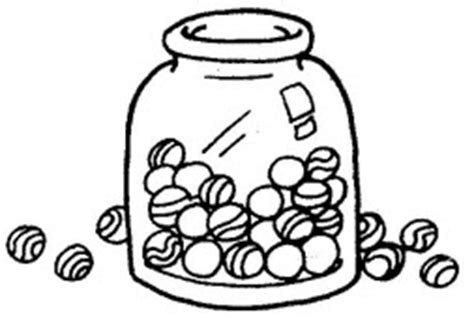 marbles in a jar clipart clipartxtras