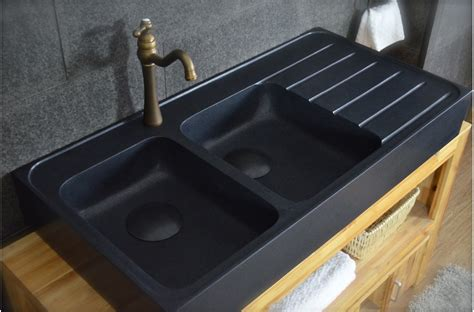 Evier Cuisine 120x60 by 120x60 201 Vier Granit Noir De Cuisine En 2 Cuves