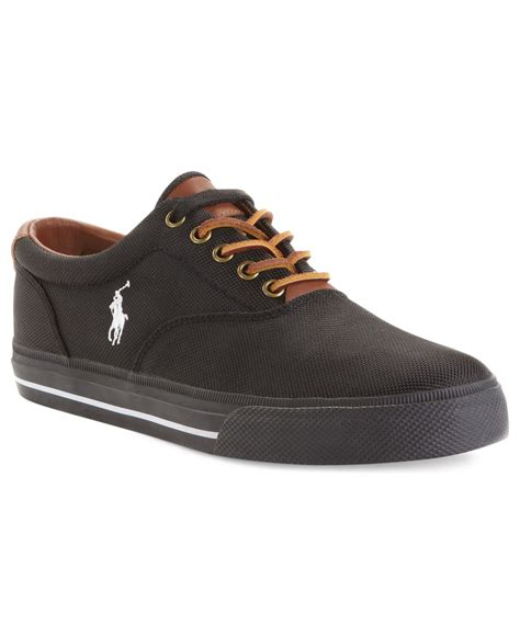 polo shoes polo ralph vaughn sneakers in black for