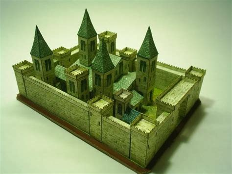 Paper Craft Castle - papermau church and castle paper model by