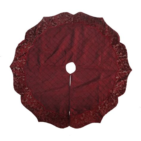 shop holiday living 56 in burgundy and gold polyester