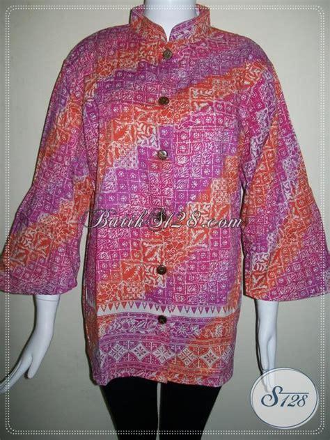 Vabia Top By Bls Supplier Baju blus batik wanita ukuran besar lace henley blouse