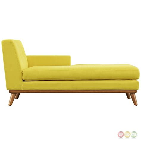modern chaise engage modern button tufted upholstered right arm chaise