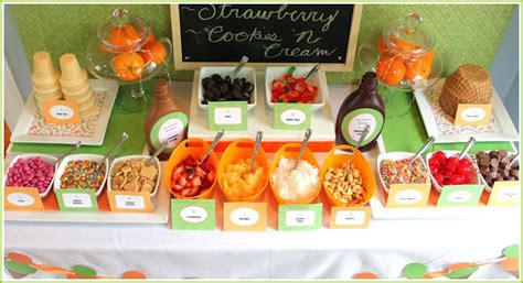 ice cream bar topping ideas ice cream party b lovely events