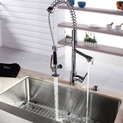 kraus commercial pre rinse chrome kitchen faucet kraus pre rinse pull kitchen faucet review modern kitchen faucets reviews