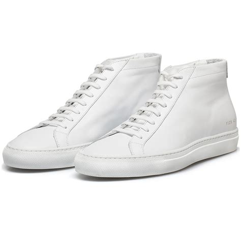 by common projects sneakers common projects white original achilles mid sneakers in