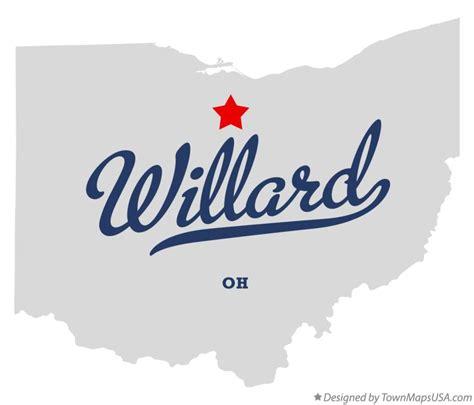willard ohio map map of willard oh ohio