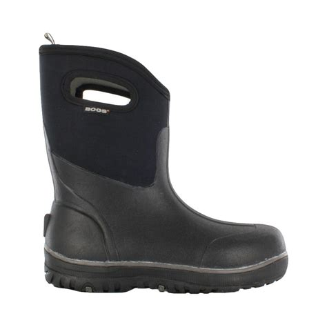 mens rubber boots size 15 bogs classic ultra mid 10 in size 15 black rubber