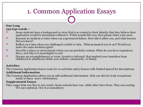 College Common Application Essay Length Length Of Common App Essay