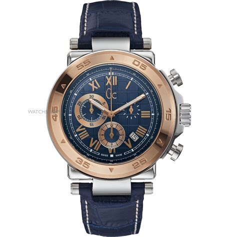 Gc 23006 Rosegold Brown Leather s gc gc 1 class chronograph x90015g7s