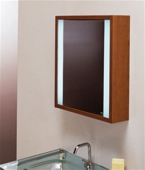 Bathroom Mirror Cabinets Wood Wooden Illuminated Bathroom Mirror Cabinet