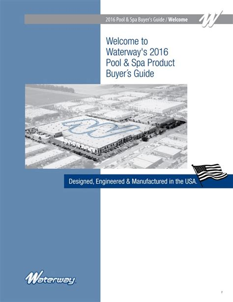 waterway plastics publishes 2016 pool spa catalog pool spa systems equipment watershapes