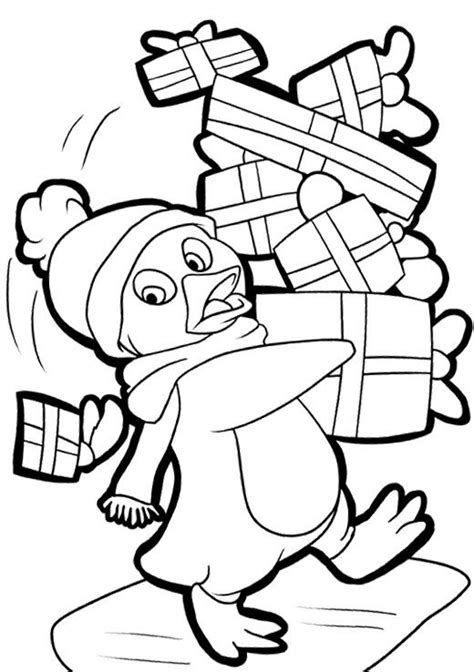 christmas coloring pages coloring pages and penguins on
