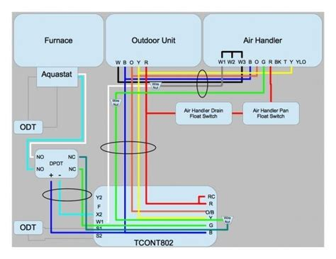 wiring diagram for thermostat with heat york air