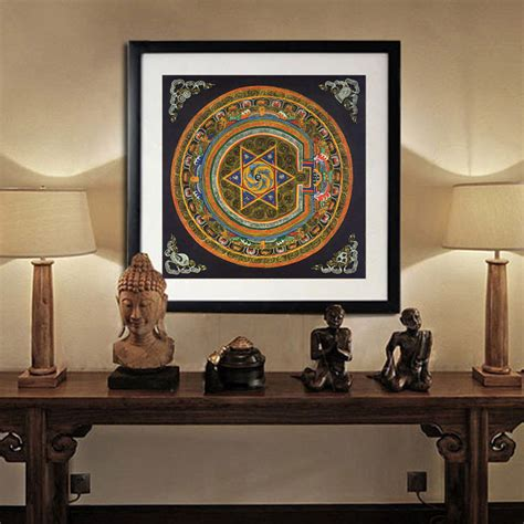 buddhist decor nepal buddhist shrine mandala faith buddha oil canvas art painting wall tibet thangka art