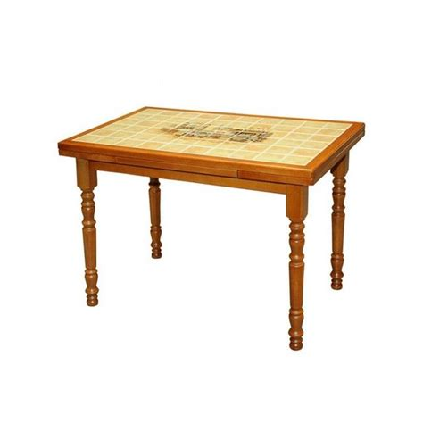 table de cuisine carrel馥 table de cuisine rustique 110x70 carrel 233 e canne achat