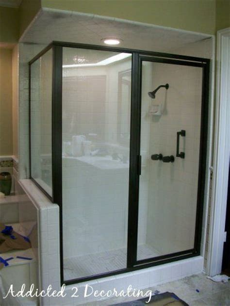 shower door frames shower doors painting shower door frame
