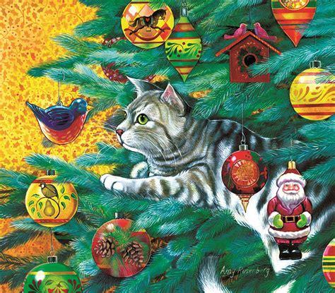 tree puzzles tree cat jigsaw puzzle puzzlewarehouse