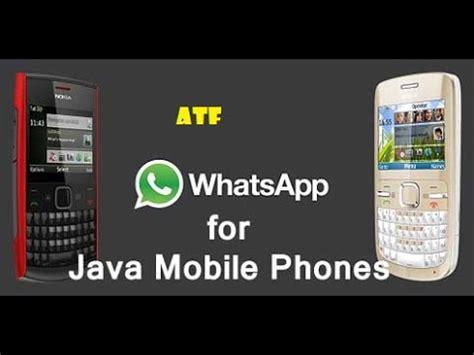 whatsapp  java mobile phones    install