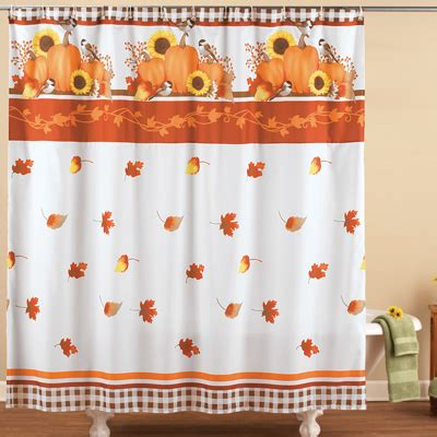 pumpkin shower curtain autumn pumpkin harvest shower curtain from collections etc