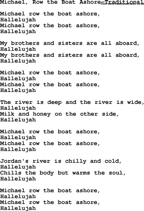 chords for michael row the boat ashore christian childrens song michael row the boat ashore