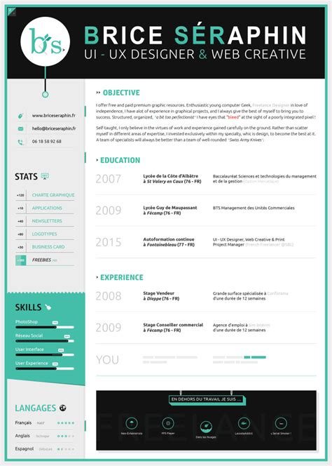 Sample Resume Interests by 70 Well Designed Resume Examples For Your Inspiration