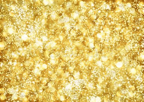When The Lights All Shine Abstract Background Of Golden Lights Stock Photo Colourbox