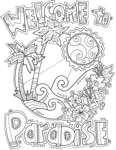 paradise artist edition coloring book books digital coloring books doodle alley