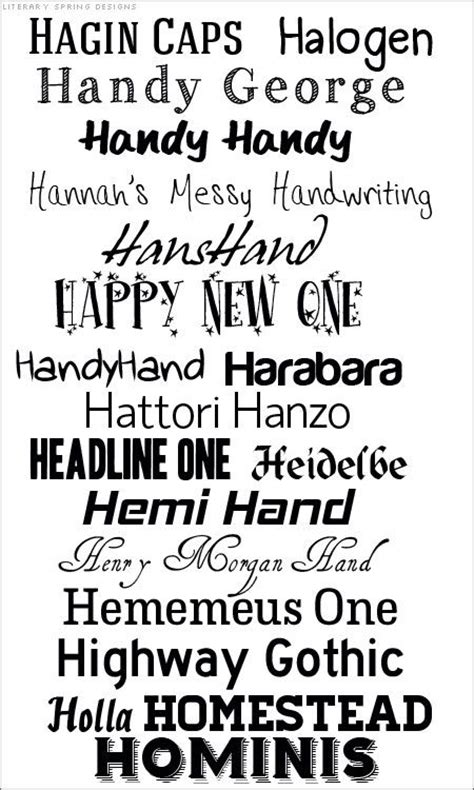 dafont just tell me what hot fonts fonts that start with h 19 free fonts no