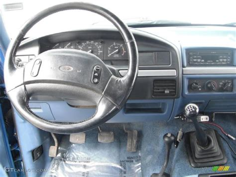 1995 Ford F250 Interior by 1995 Ford F250 Xlt Extended Cab 4x4 Blue Dashboard Photo