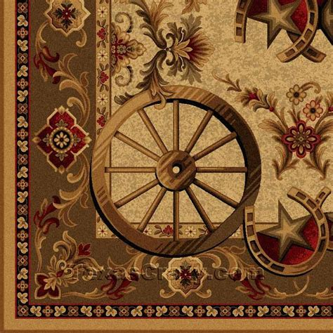 western themed rugs buy western wagon wheel 5 x 8 area rug rug store