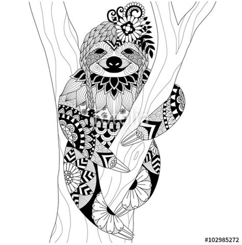 a hilarious sloth coloring book for adults and books quot sloth zentangle design for coloring book for and