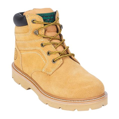 mens suede work boots workwear by wrangler s noah suede work boot wheat