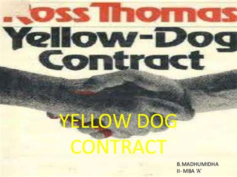 yellow contract yellow contract