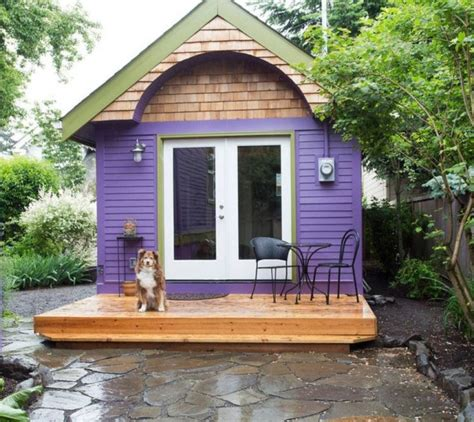 tiny home builders in oregon purple tiny house vacation in portland or