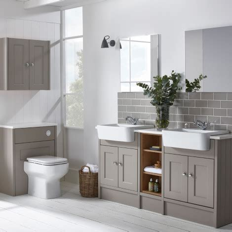 burford mocha fitted bathroom furniture roper