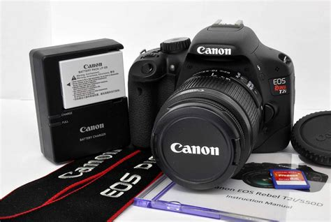 Canon 550d Kit 18 55mm Efek canon eos digital rebel t2i 550d 18 mp dslr kit w ef s 18 55mm is ii lens ebay