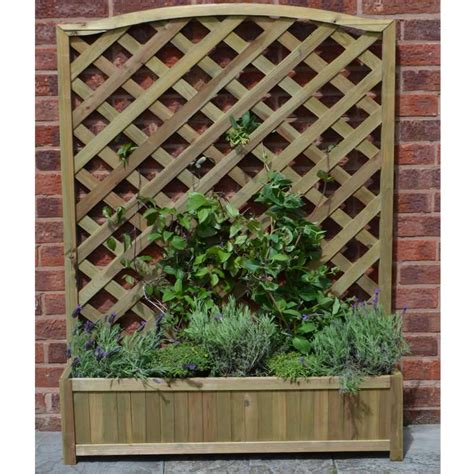 Large Garden Planters With Trellis by Forest Garden Large Fsc Trellis Planter On Sale Fast