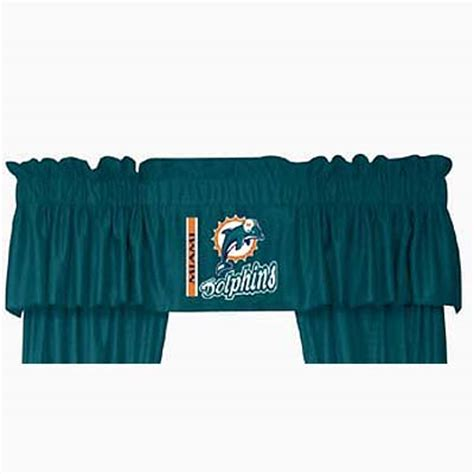 miami dolphins curtains miami dolphins locker room window valance