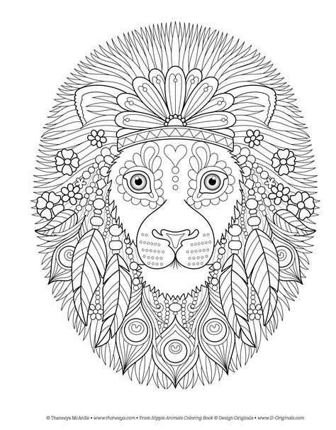 coloring book of animals hippie animals coloring book coloring is