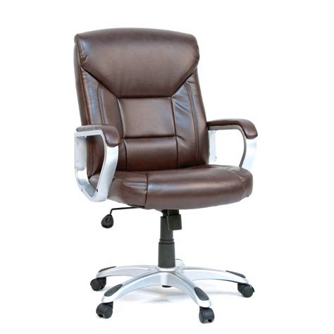 brown leather executive desk chair gruga brown deluxe leather office chair