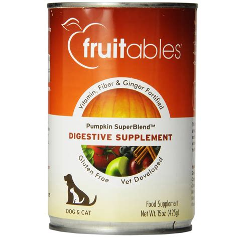 gastrointestinal food fruitables pumpkin superblend digestive supplement dogs cats can food 15 oz