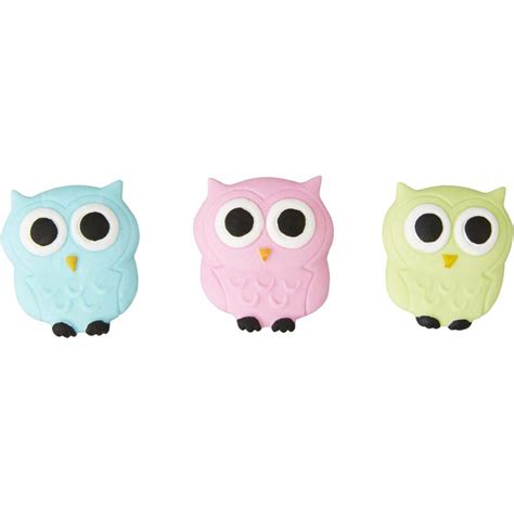 Owl Icing Decorations by Owl Royal Icing Decorations 710 6022 Country Kitchen