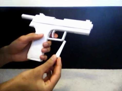 How To Make A Pistol Out Of Paper - paper pistol h k usp
