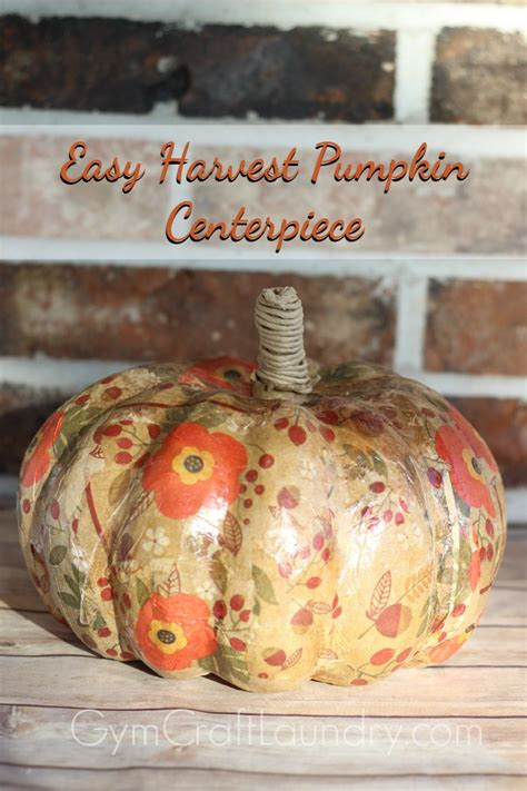 Easy Decoupage Ideas - last minute thanksgiving centerpiece easy decoupage craft