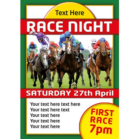 Or Poster Personalised Race Events Themed Tickets Invites Or Posters Buzz Invites