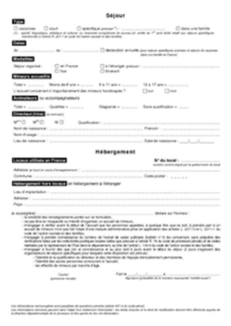 Cerfa Credit Impot Formation Dirigeant 2013 Cerfa N 176 12757 01 D 233 Claration D Un Accueil Avec H 233 Bergement Documentissime